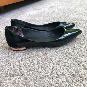 Ted Baker Black Patent Pointed Flats